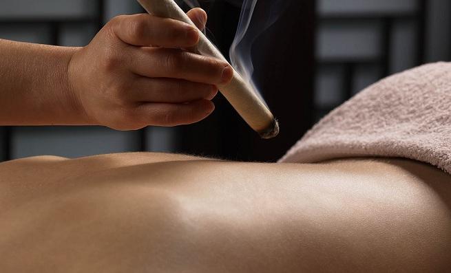 Šildymas moksa (moksoterapija)